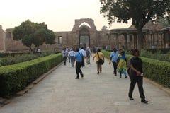 Qutb Minar σύνθετο σε Mehrauli, Νέο Δελχί, Ινδία Στοκ εικόνες με δικαίωμα ελεύθερης χρήσης