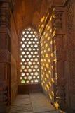 Qutb Minar, Дели, резное изображение Стоковое Фото