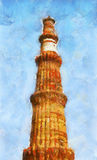 Qutb Minar royalty-vrije stock foto's