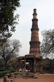 Qutb Minar. [1][2] also often written as Qutub Minar, at 73 meters, is the second tallest minar in India Royalty Free Stock Photography