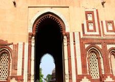 Qutb minar. Beautiful ancient building at qutb minar in delhi india Stock Photos
