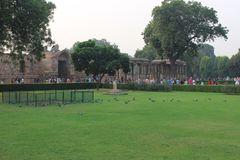 Qutb Minar Complex in Mehrauli, New Delhi, India royalty-vrije stock foto