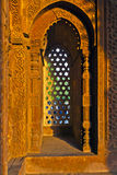 Qutb Minar, Delhi, carvings in the sandstone of a window gives a Royalty Free Stock Photography