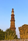Qutb Minar, Delhi, the worlds tallest brick built minaret at 72m Stock Photos