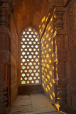 Qutb Minar, Deli, carvings Foto de Stock