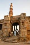 Qutb Minar i New Delhi, Indien Arkivbilder