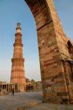Qutb Minar i New Delhi, Indien Fotografering för Bildbyråer