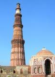The Qutb Minar monument in New Delhi, India Stock Photography