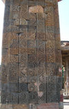 The Qutb Minar monument site details in New Delhi, India Stock Photography