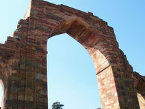 The Qutb Minar monument site in New Delhi, India Royalty Free Stock Photography