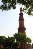 Qutb Minar 2nd tallest minar in Delhi Royalty Free Stock Photo