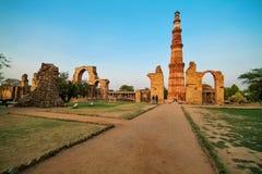 Qutb Minar in Neu-Delhi, Indien Lizenzfreies Stockbild