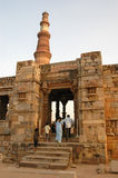 Qutb Minar in New Delhi, India Stock Afbeeldingen