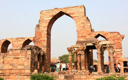 Qutb minar ruins Royalty Free Stock Photo