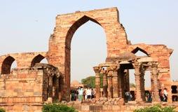 Qutb minar ruins Royalty Free Stock Photo