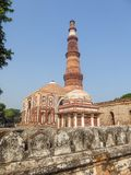 The Qutb Minar is the tallest brick minaret in the world and is located in the city of Delhi. India. It is an UNESCO World Heritag. E Site. Asia Stock Images