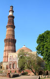 The Qutb Minar tower monument in New Delhi, India Royalty Free Stock Photography