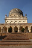 Qutb Shahi Tomb with stairs, Hyderabad. Qutb Shahi Tombs with stairs leading to front, Near the Golconda fort, Hyderabad, Andhra Prades, India Royalty Free Stock Photos