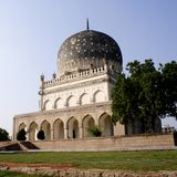 Qutb Shahi Tombs in Hyderabad. Closeup view of Qutb Shahi Tombs in Hyderabad, India Royalty Free Stock Photo