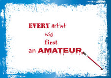 Qute About Artists. Inspirational and motivational quotes for artists Royalty Free Stock Photo