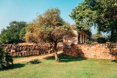 Qutub minar在德里,印度 图库摄影