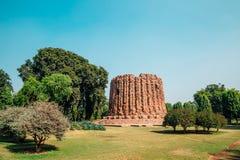 Qutub minar在德里,印度 库存照片