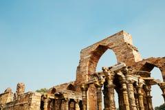 Qutub minar在德里,印度 免版税图库摄影