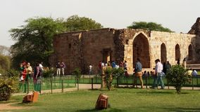 Qutub Minar堡垒 免版税库存图片