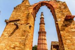 Qutub Minar塔,德里印度 免版税库存图片