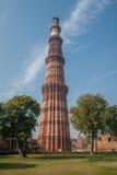 Qutub Minar塔,德里,印度 免版税库存图片