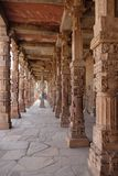 Qutub Minar复合体,德里,印度 库存照片