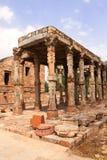 Qutub-Minar曲拱,新德里,印度 库存照片