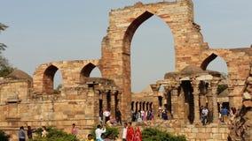 Qutub Minar的阿来门 库存照片