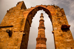 Qutub Minar,新德里,印度 免版税库存图片