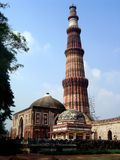 Qutub Minar. The famous ancient tower called the Qutub Minar, a major tourist attraction in Delhi, India Royalty Free Stock Photos