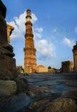 全景Qutub Minar新德里印度 免版税库存照片