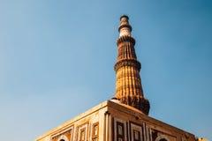 Qutub Minar antyczne ruiny w Delhi, India obrazy royalty free