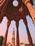 Qutub minar. Beautiful Qutub minar of delhi Stock Photography