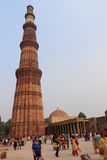 Qutub Minar courtyard and its ruins -  UNESCO World Heritage Sit Stock Images