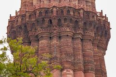 Qutub Minar Delhi India fotografie stock libere da diritti