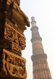 Qutub Minar Delhi - tour Photo stock