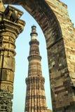 Qutub minar en Delhi, la India Fotografía de archivo libre de regalías