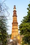 Qutub minar en Delhi, la India fotos de archivo