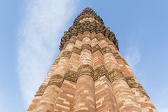 Qutub Minar i det Qutb komplexet i Mehrauli Arkivfoton