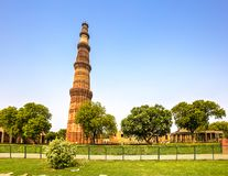 Qutub Minar kompleks, India zdjęcia royalty free