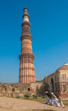 Qutub Minar Kontrollturm, Delhi, Indien Stockbild