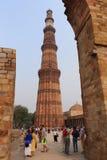 Qutub Minar le torri più alte e famose nel mondo, Delhi Immagine Stock