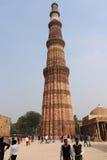 Qutub Minar le torri più alte e famose nel mondo, Delhi Fotografia Stock Libera da Diritti