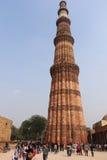 Qutub Minar les tours les plus grandes et célèbres dans le monde, Delhi Photographie stock libre de droits