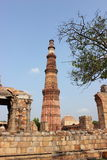 Qutub Minar monument in New Delhi, India Stock Photo